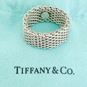 Tiffany & Co. | Somerset Mesh Ring 925 Size 11.25